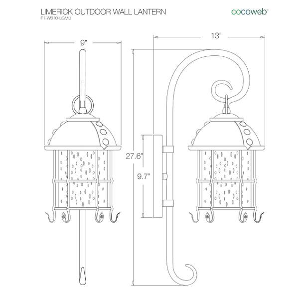 Limerick Outdoor LED Wall Lantern - Medium