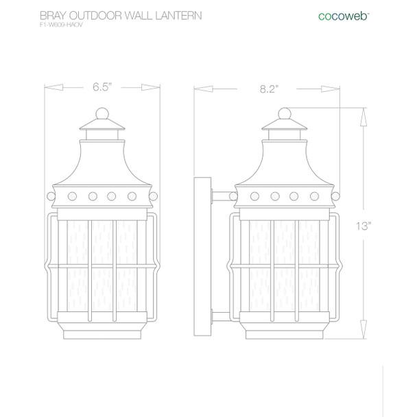 Bray Outdoor LED Wall Lantern