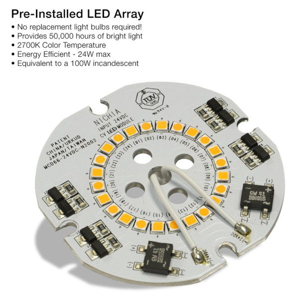Pre-installed LED array