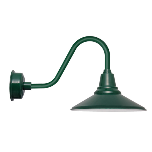 """20"""" Calla LED Barn Light with Rustic Arm in Vintage Green"""