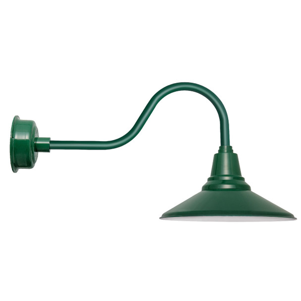 "20"" Calla LED Barn Light with Contemporary Arm in Vintage Green"