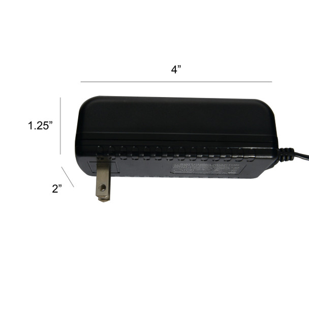 Power Adapter Dimensions for Customizable Blackspot Floor Lamp