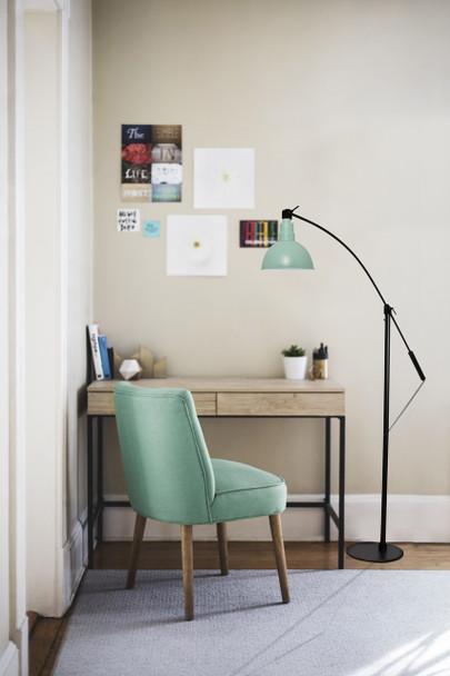 Blackspot Barn Floor Lamp with Jade Shade Lifestyle 2