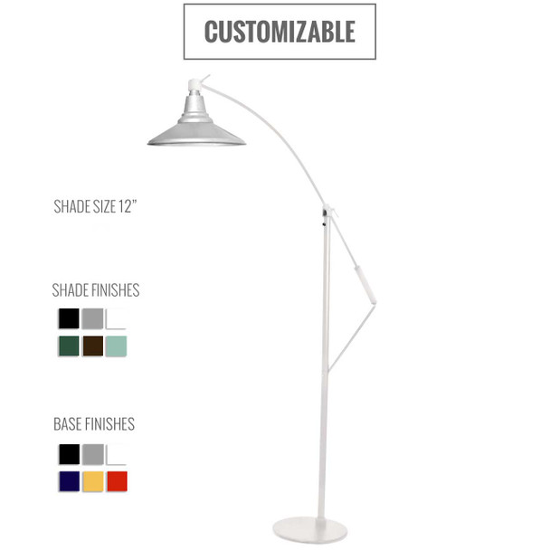 Calla Customizable Industrial Floor Lamp