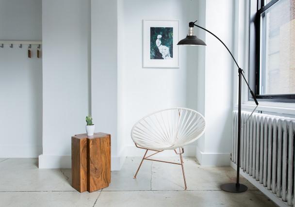 Peony Customizable Industrial Floor Lamp Lifestyle