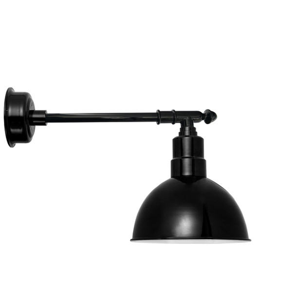 "12"" Blackspot LED Barn Light with Victorian Arm - Black"