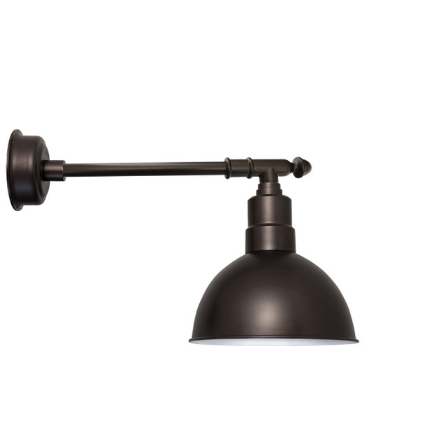 "12"" Blackspot LED Barn Light with Victorian Arm - Mahogany Bronze"