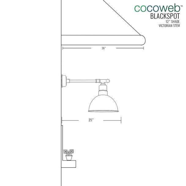 """12"""" Blackspot LED Barn Light with Victorian Arm - Mahogany Bronze"""