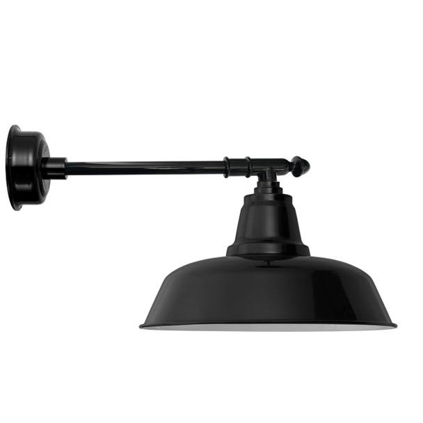 "14"" Goodyear LED Barn Light with Victorian Arm - Black"