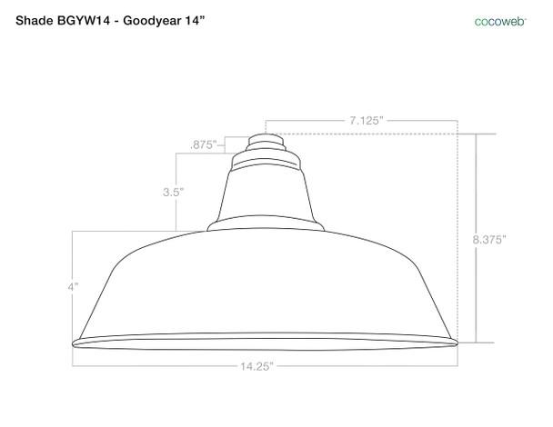 "14"" Goodyear LED Barn Light with Victorian Arm - Mahogany Bronze"
