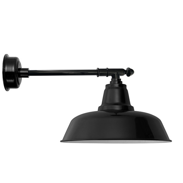 "16"" Goodyear LED Barn Light with Victorian Arm - Black"
