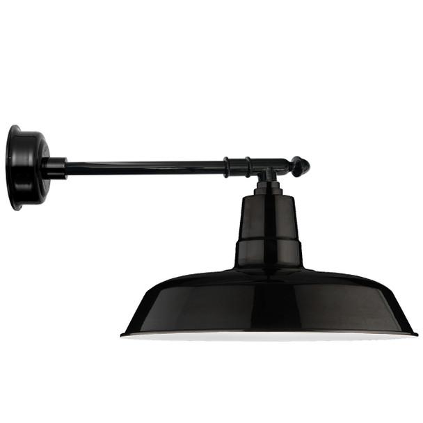 "22"" Oldage LED Barn Light with Victorian Arm - Black"