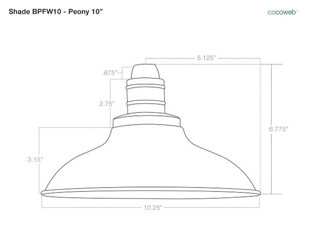 """10"""" Peony LED Barn Light with Victorian Arm - Mahogany Bronze"""