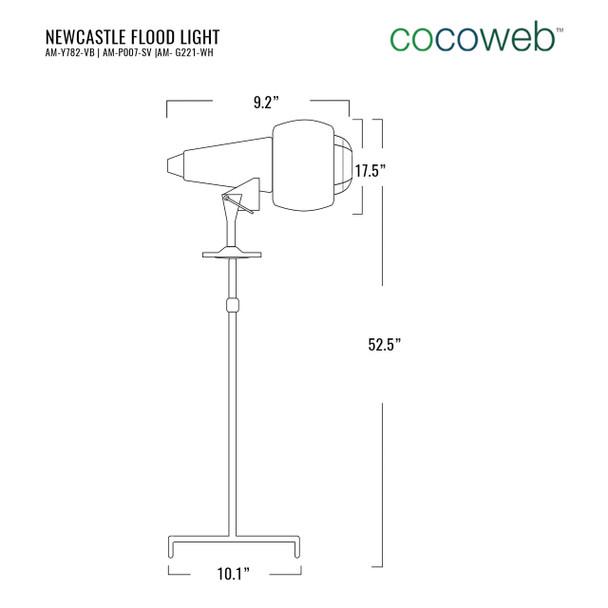 Newcastle Flood Light in White