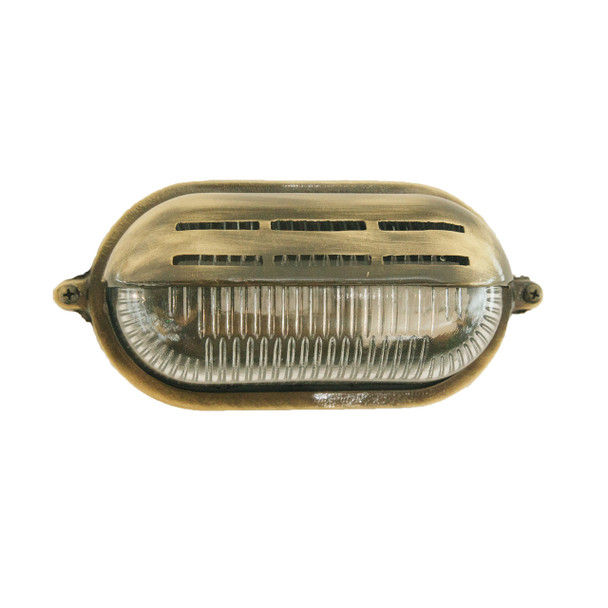 Tamworth Bulkhead Wall Sconce in Brass