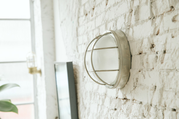 Winton Bulkhead Wall Sconce in Silver