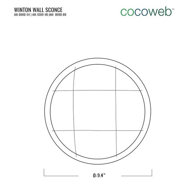 Winton Bulkhead Wall Sconce in Black