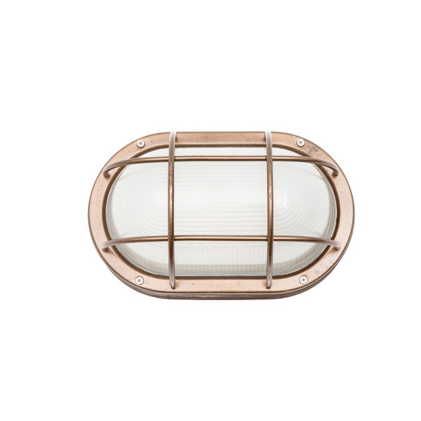 Moruya Nautical Bulkhead Sconce in Brass