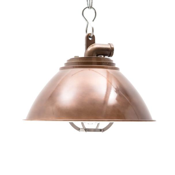 Sunbury Nautical Pendant Light in Vintage Brass