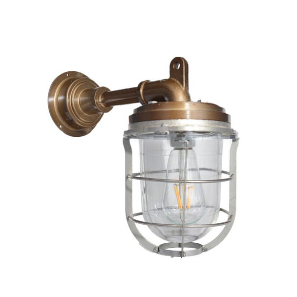 Palmerston Nautical Wall Sconce in Vintage Brass