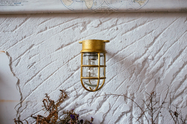 Rockhampton Nautical Wall Sconce in Brass