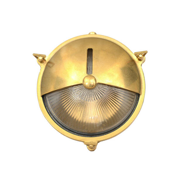 Canberra Bulkhead Wall Sconce in Brass