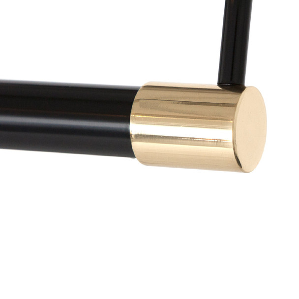 Underside: Tru-Slim Hardwired LED Picture Light - Black with Brass Accents