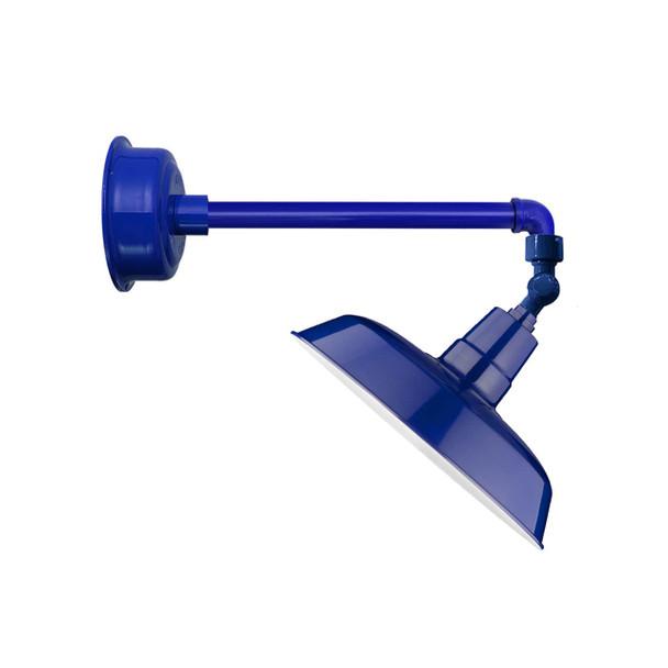"""12"""" Oldage LED Sign Light with Metropolitan Arm in Cobalt Blue"""