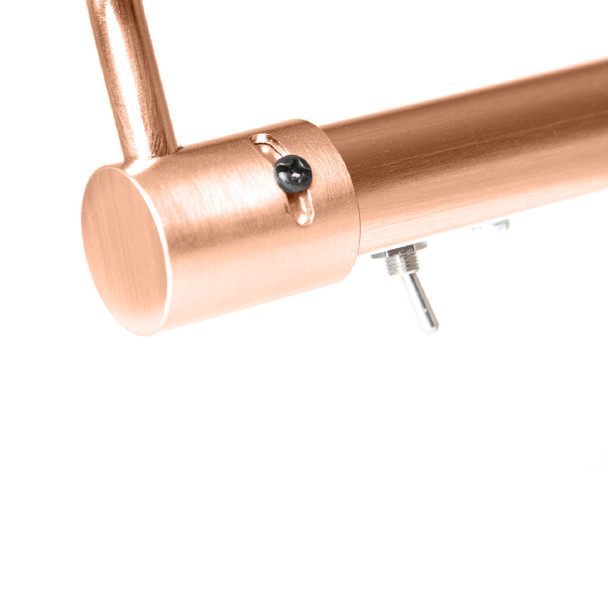 """Close Up: 43"""" Tru-Slim Hardwired LED Picture Light in Rose Gold"""
