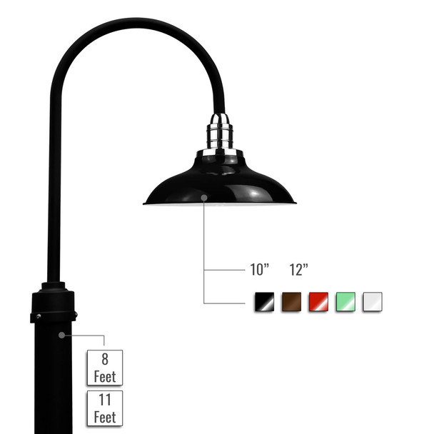 Customizable Peony LED Barn Lamp Post
