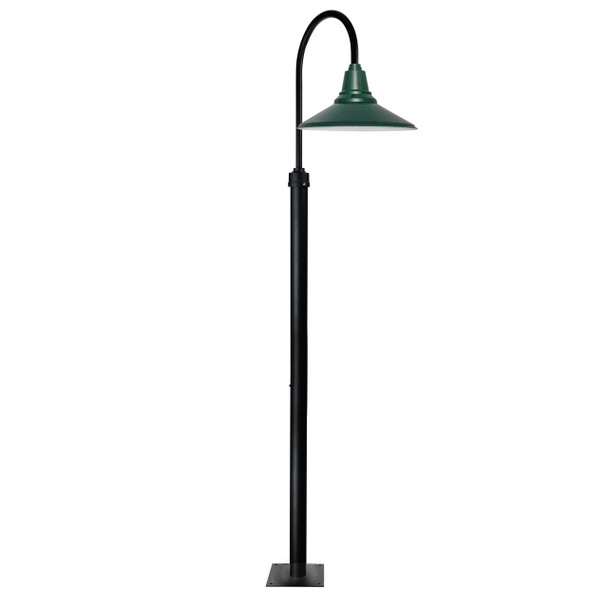 "96"" Calla Vintage High LED Street Light with 20"" Shade - Vintage Green"