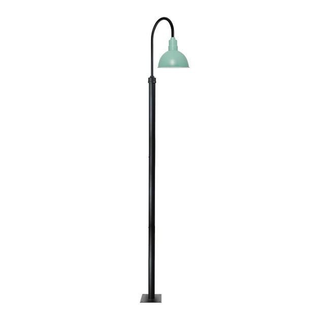 "132"" Blackspot Garden Barn Post with 8"" Shade - Jade"