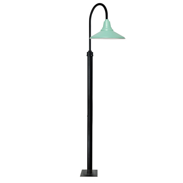 "8 ft Calla Vintage Barn Post with 16"" Shade - Jade"