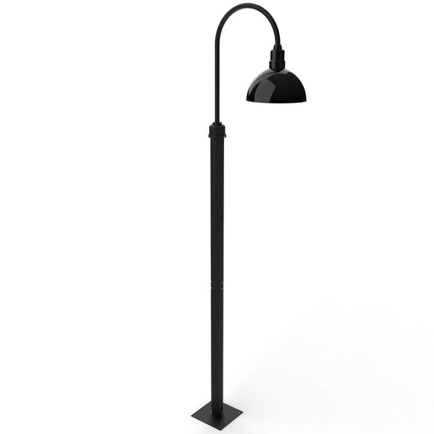"11 ft Blackspot Barn Post with 12"" Shade - Black"