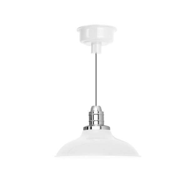 "10"" Peony LED Barn Light - White"