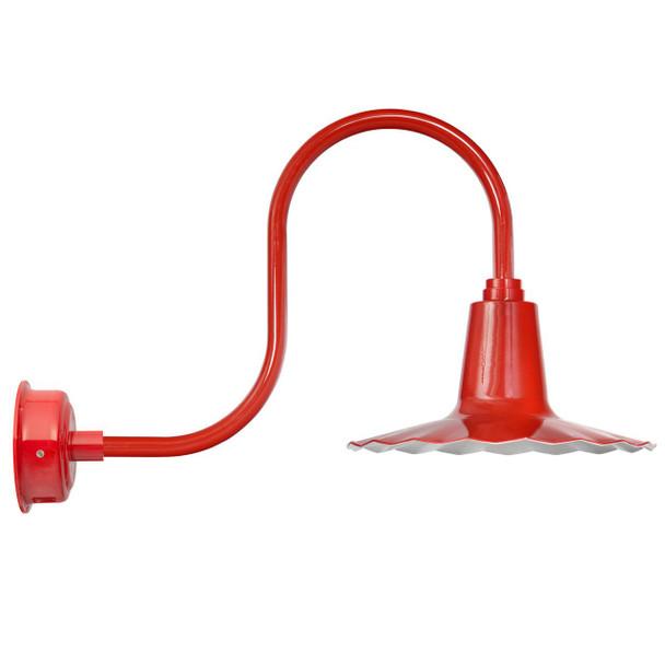 "Oldage 12"" Cherry Red Antique LED Barn Light - W / Motion Sensor"