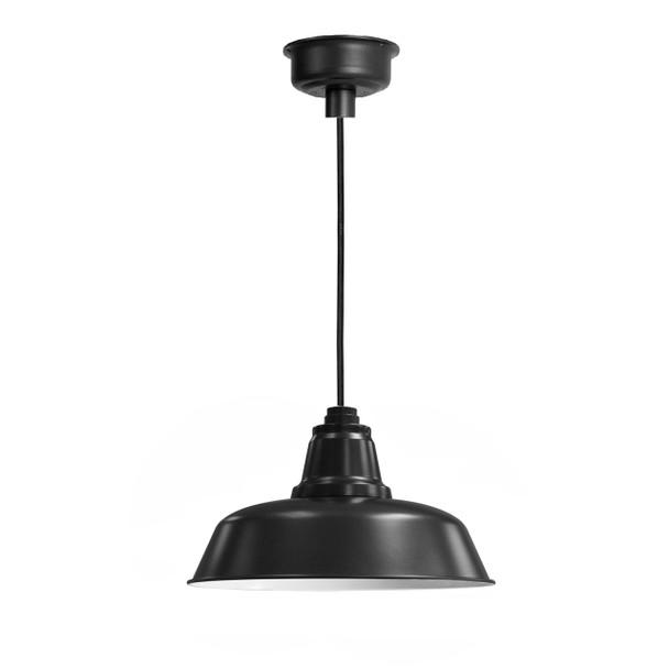 """Verizon™ 16"""" Matte Black LED Barn Pendant Light"""