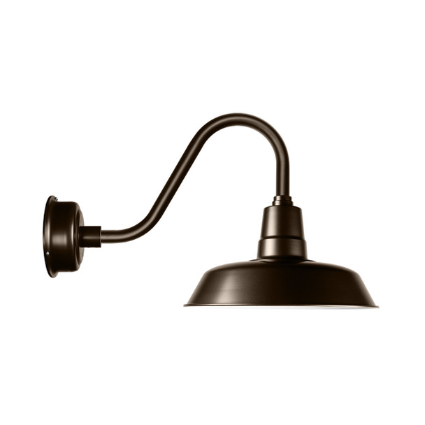 Cocoweb Oldage Barn Light in Mahogany Bronze with Rustic Arm