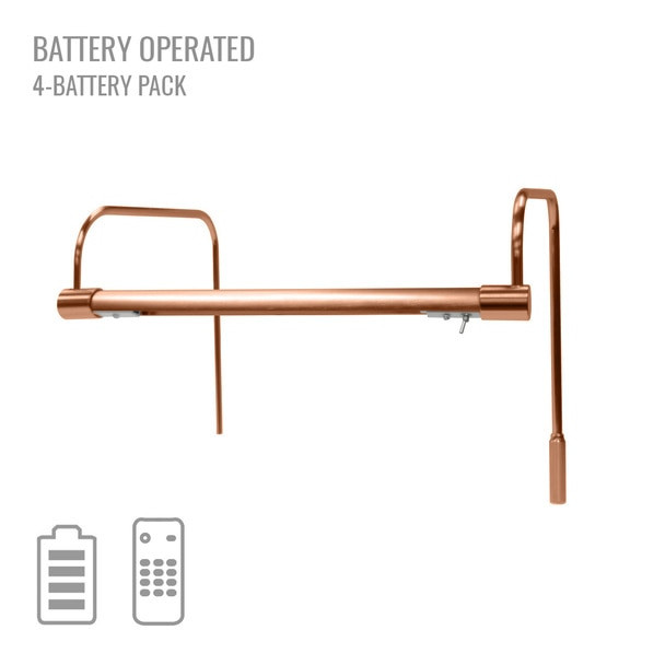 "Cocoweb 12"" Tru-Slim Battery Picture Light in Copper"