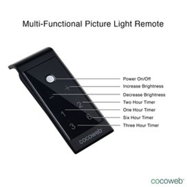 """Cocoweb 43"""" Tru-Slim Battery Picture Light in Black with Brass Accents"""
