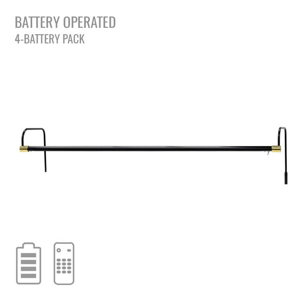 "Cocoweb 43"" Tru-Slim Battery Picture Light in Black with Brass Accents"
