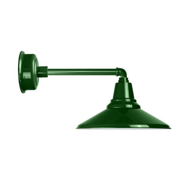 "Cocoweb Calla 18"" Vintage Green Barn Light with Metropolitan Arm"