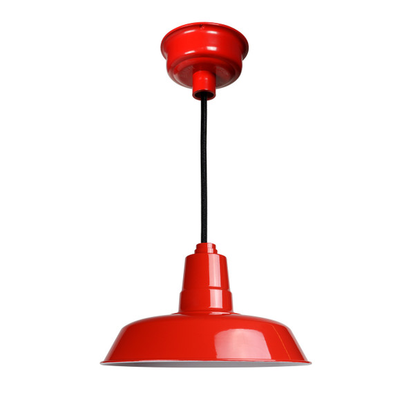 "Cocoweb 14"" Oldage Cherry Red Pendant Light"
