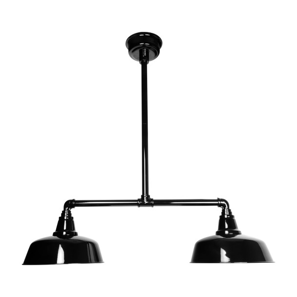 "Goodyear 12"" Double Ceiling/Pendant Light in Black"