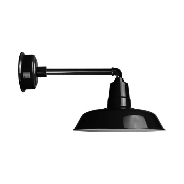 Black Metropolitan Oldage Indoor/Outdoor LED Barn Light