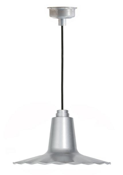 "16"" Iris LED Pendant Light - Galvanized Silver"