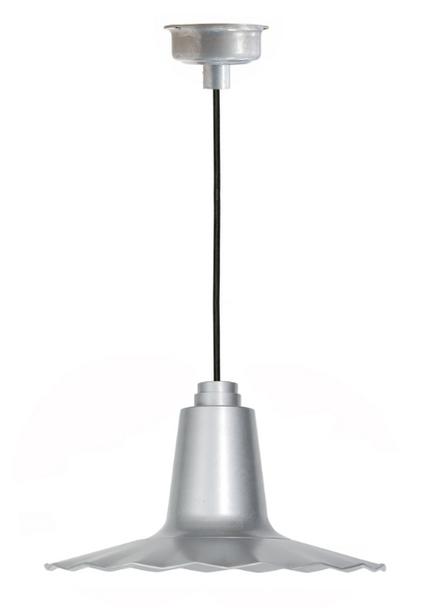 "12"" Iris LED Pendant Light - Galvanized Silver"
