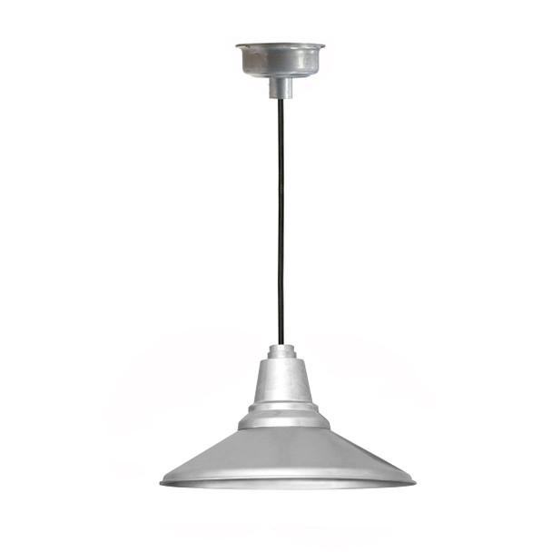 """Calla 12"""" LED Pendant Light - Galvanized Silver"""