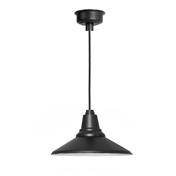 "Calla 16"" LED Barn Light - Matte Black"