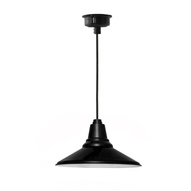 "18"" Calla LED Black Pendant Light"